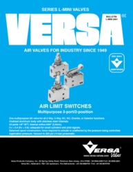Versa L Series Aluminum Limit Switch Valves