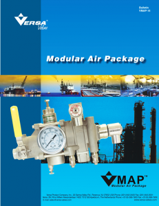 Versa VMAP: V-316 Modular Air Package Catalog