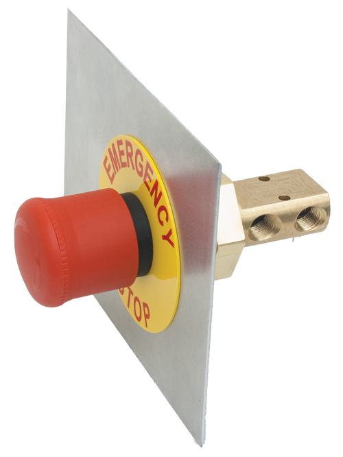 Pneumatic Emergency Manual Stop for panels