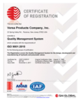 Versa Products Company ISO 9001:2018 Certification